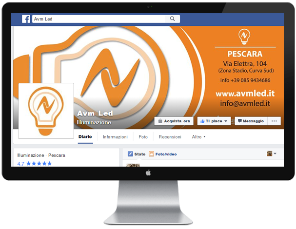 Pagina Facebook Avm LED
