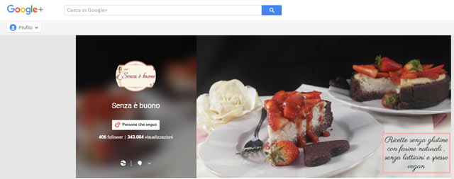 Profilo Google plus Senza è Buono