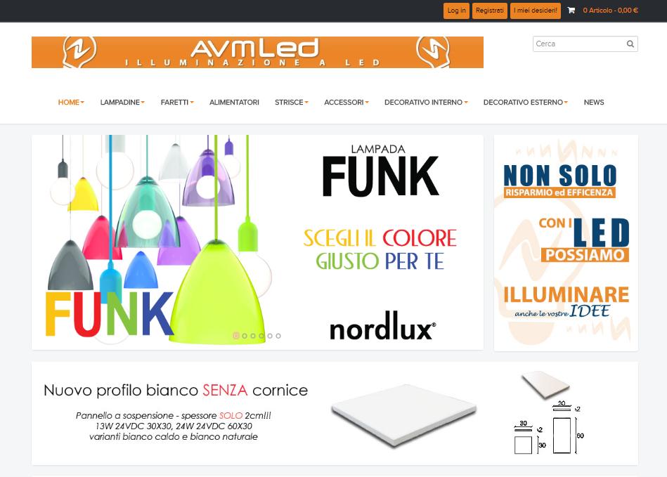 Grafica e testi sito AVMLED